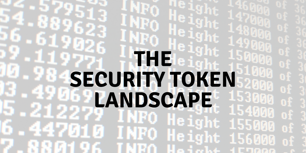 The Security Token Landscape