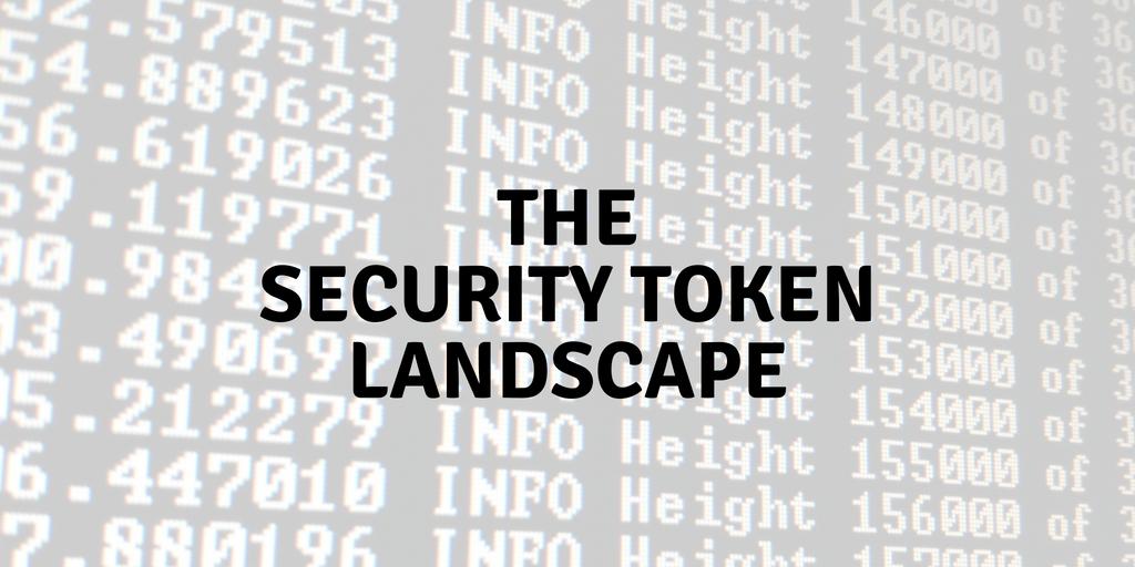 The Security Token Landscape